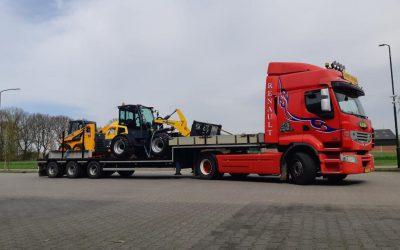 Transport van nieuwe machines